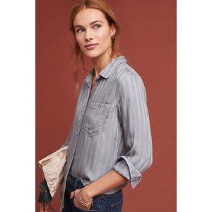 Cloth & stone Anthropologie slate striped blouse